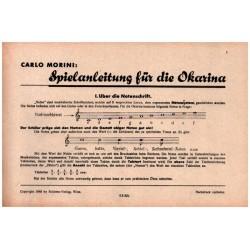 Morini, Carlo: Spielanleitung : für Okarina