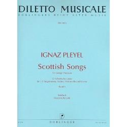 Pleyel, Ignaz Joseph: Scottish Songs Band 2 : f├╝r 1-2 Stimmen, Violine, Violoncello und Klavier Stimmen