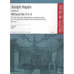 Haydn, Franz Joseph: Notturno G-Dur Nr.8 Hob.II:27 : für 2 Liren (Altblockflöten) und Kammerorchester Stimmensatz