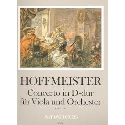 Hoffmeister, Franz Anton: Konzert D-Dur : für Viola und Orchester Partitur
