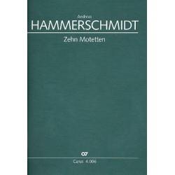 Hammerschmidt, Andreas: 10 Motetten : für gem Chor und Instrumente Partitur