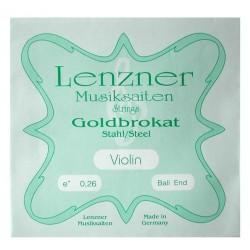 Lenzner Goldbrokat Violinsaite E 4/4 (Kugel) - hart (.27)