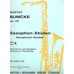 Bumcke, Gustav: Etüden op.43 Band 4 38 Duette für 2 Saxophone Spielpartitur
