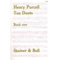 Purcell, Henry: 10 Duets vol.1 (nos.1-6) : for 2 voices and keyboard