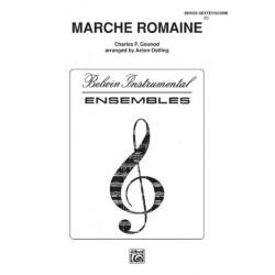 Gounod, Charles Francois: Marche romaine : for 2 cornets, horn in F, trombone, baritone and tuba score and parts