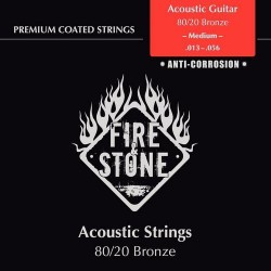 Fire & Stone 80/20 Bronze Saiten fürAkustik/Westerngitarre - Stärke: medium (.013-.056)