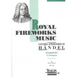 Händel, Georg Friedrich: Feuerwerksmusik : Auszüge für 4 Trompeten Partitur und 4 Stimmen