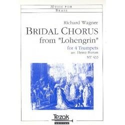 Wagner, Richard: Brautchor aus Lohengrin : f├╝r 4 Trompeten Partitur und 4 Stimmen