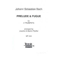 Bach, Johann Sebastian: Präludium und Fuge e-Moll BWV554 : für 4 Trompeten Partitur ud 4 Stimmen