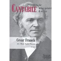 Franck, C├®sar: Cantabile : f├╝r 2 Trompeten, Horn (Posaune), 2 Posaunen und Orgel Partitur und 5 Stimmen