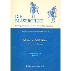 Musik des Mittelalters : f├╝r 2-3 Posaunen, Spielpartitur