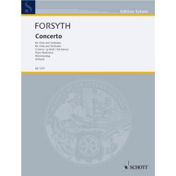 Forsyth, Cecil: Concerto g minor for viola and orchestra : for viola and piano