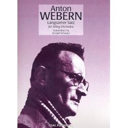 Webern, Anton von: Langsamer Satz : für 2 Violinen, Viola, Violoncello und Bass Partitur und Stimmen