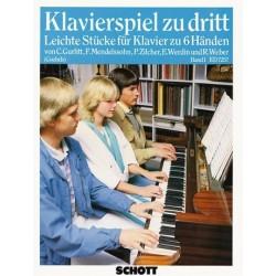 Klavierspiel zu dritt Band 1 : leichte Stücke für Klavier zu 6 Händen