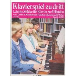 Klavierspiel zu dritt Band 2 : Leichte Stücke für Klavier zu 6 Händen