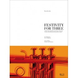 Klaschka, Martin: Festivity for three : for 3 trumpets score and parts