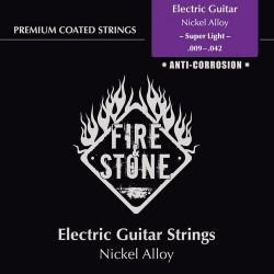 Fire & Stone Nickel alloy Saiten für E-Gitarre - Stärke: super light (.009-.042)