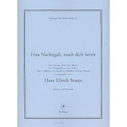 Staeps, Hans Ulrich: Frau Nachtigall mach dich bereit Sätze alter Meister für 4 Blockflöten (SSSA oder AATB)
