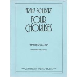 Schubert, Franz: 4 Choruses : for 3 tubas 3 scores