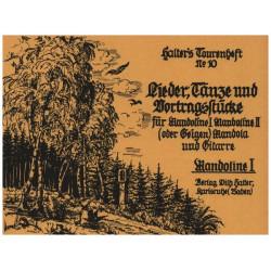 HALTERS TOURENHEFT BAND 10 : FÜR MANDOLINENORCHESTER MANDOLINE 1