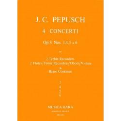 Pepusch, Johann Christoph: Concerto C-Dur op.8,5 : für 2 Altblockflöten (Flöten, Tenorblockflöten, Oboen, Violinen) und Bc,
