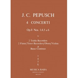 Pepusch, Johann Christoph: Concerto in f Major op.8,6 for 2 alto recorders and bc Partitu und 5Stimmen