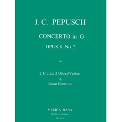 Pepusch, Johann Christoph: Konzert G-Dur op.8,2 : für 2 Flöten, 2 Oboen (Violinen) und Bc
