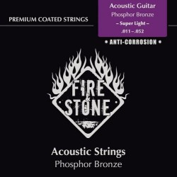 Fire & Stone Phosphor Bronze Saiten für Akustik/Westerngitarre - Stärke:super light (.011-.052)