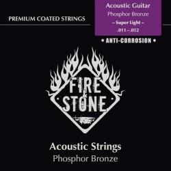 Fire & Stone Phosphor Bronze Saiten für Akustik/Westerngitarre - Stärke:super light (.011-.052)