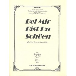 Secunda, Sholom: Bei mir bist du schön for 4 recorders (ATTB) score and parts