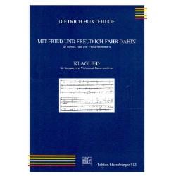 Buxtehude, Dieterich: Mit Fried und Freud ich fahr dahin und Klaglied : f├╝r Soli (SB bzw. S) und Streicher Partitur