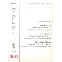 Marinovici, Cesar: Volkstänze aus Osteuropa und Asien Band 1 : für Blockflöten (SSAA) und Gitarre, Partitur