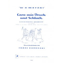 Mozart, Wolfgang Amadeus: CARO MIO SCHLUCK UND DRUCK : SCHERZHAFTES QUARTETT FUER SATB SOLI UND KLAVIER, KV 571A PARTITUR
