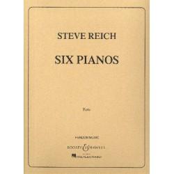 Reich, Steve: Six Pianos : für 6 Klaviere 12-händig Stimmen