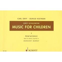 Orff, Carl: Music for Children vol.1 : PENTATONIC SCORE
