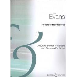 Evans, Colin: Recorder Rendezvous für 1-3 Sopranblockflöten und Klavier (Gitarre) Partitur und Stimmen