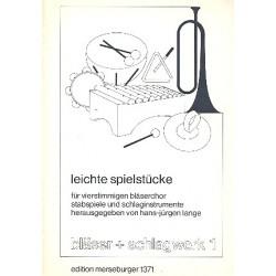 Leichte Spielstücke für Bläserchor und Schlaginstrumente Partitur