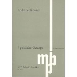 Volkonsky, Andr├®: 7 geistliche Ges├ñnge : f├╝r 3 M├ñnnerstimmen (Solo oder Chor), Partitur (russ/dt)