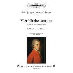 Mozart, Wolfgang Amadeus: 4 Kirchensonaten : für Orgel zu 4 Händen