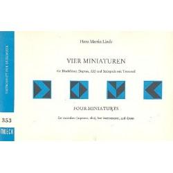 Linde, Hans Martin: Miniaturen : für 2 Blockflöten (SA) und Schlagwerk Spielpartitur