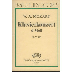 Mozart, Wolfgang Amadeus: Concerto in d Minor KV466 : for piano and orchestra study score