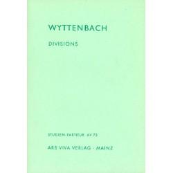 Wyttenbach, Jürg: Divisions für Klavier und 9 Solo-Streicher Studienpartitur
