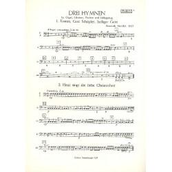 Metzler, Friedrich: 3 Hymnen : für Orgel, Glocken, Pauken und Schlagzeug Pauken