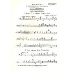 Metzler, Friedrich: 3 Hymnen : für Orgel, Glocken, Pauken und Schlagzeug Röhrenglocken