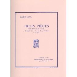 Bozza, Eugène: 3 pièces : pour septuor de cuivres partition