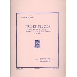 Bozza, Eugène: 3 pieces 1976 : pour septuor de cuivres 7 parties