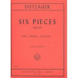 Dotzauer, Justus Johann Friedrich: 6 Pieces op.104 : for 3 violoncellos Stimmen