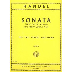 Händel, Georg Friedrich: Sonata g minor op.2,8 : for 2 cellos and piano