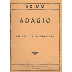 Grimm, Karl: Adagio G major : for 2 violoncellos and piano