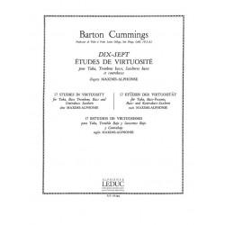 Cummings, Barton: DIX-SEPT ETUDES DE VIRTUOSITE : POUR TUBA, TROMBONE BASSE, SAXHORNS BASSE ET CONTREBASSE BC